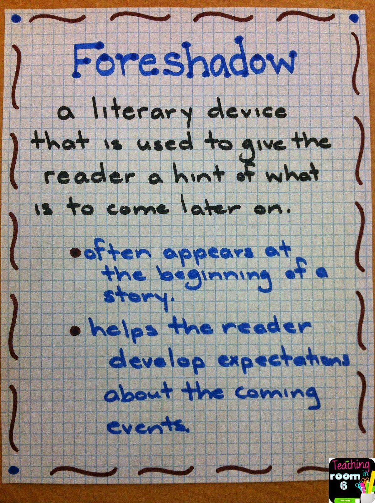 Foreshadowing In Tuck Everlasting Teaching In Room 6 Tuck Everlasting Teaching Reading Anchor Charts