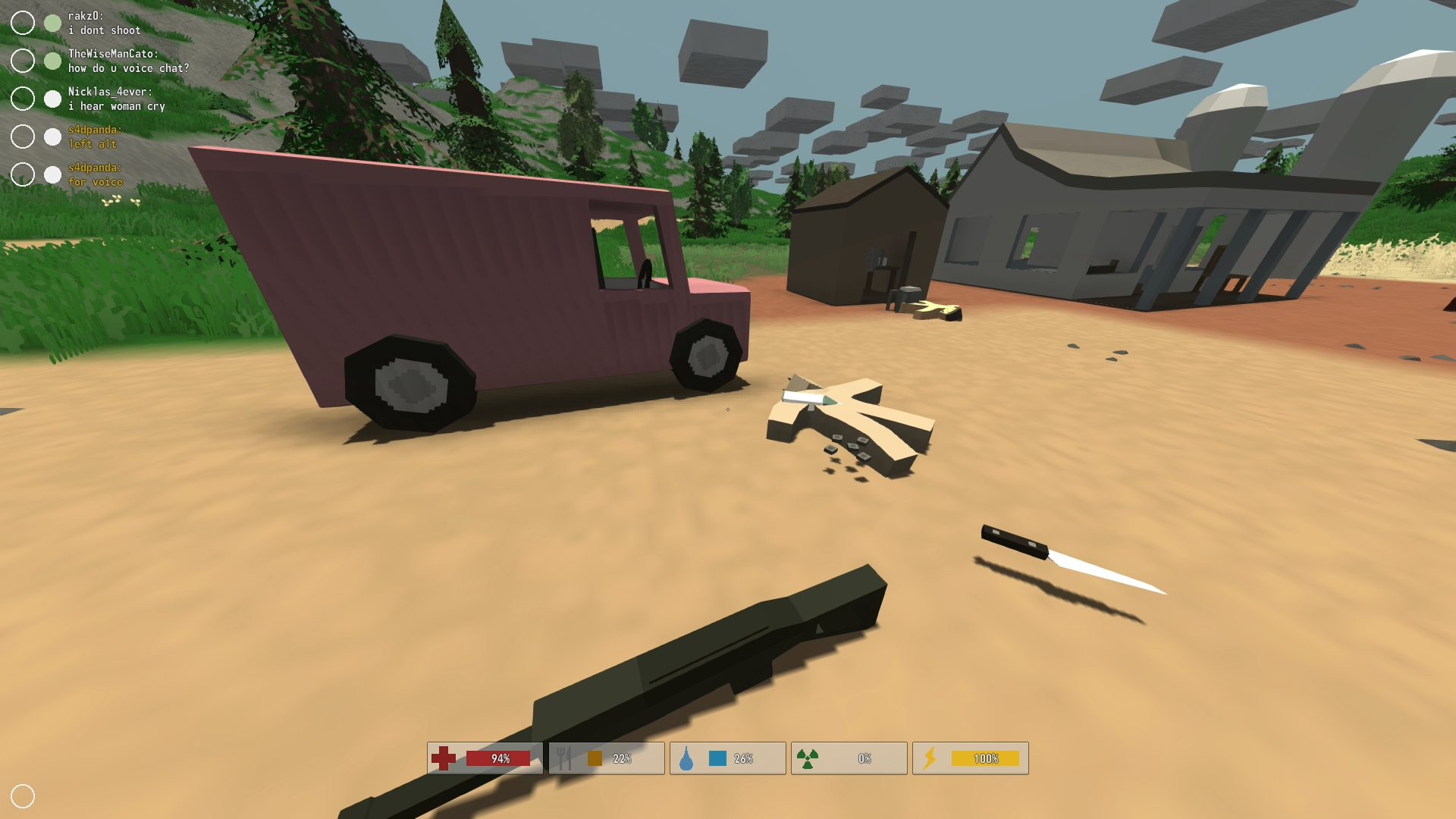 The Scene Of The Crime In The New Unturned Zombie Survival Game That S Free To Play On Steam Unturned Check Out Survival Games Zombie Survival Free To Play