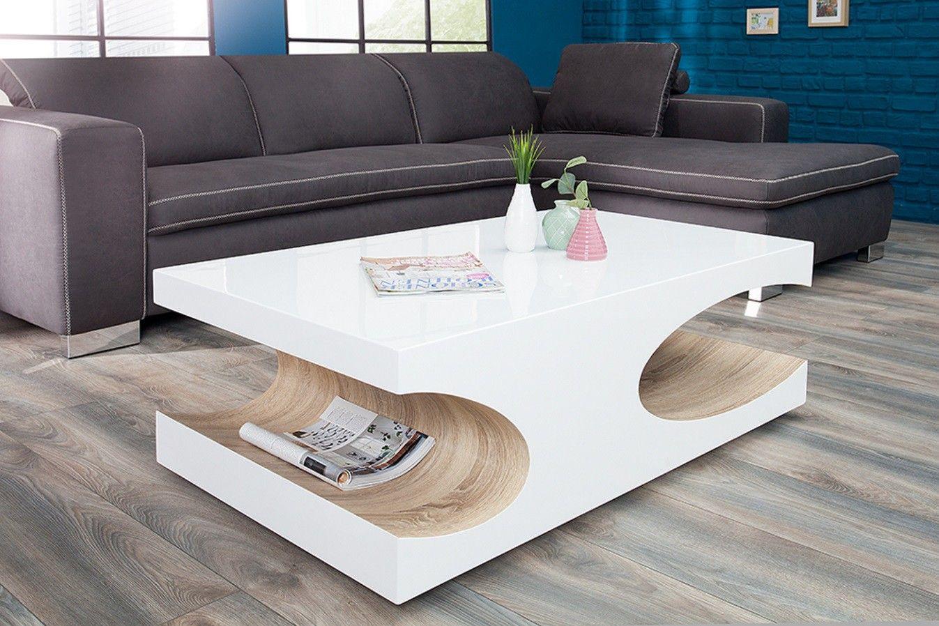 Table Basse Design Blanc Laque Bois Cubico 120 Cm Table Basse