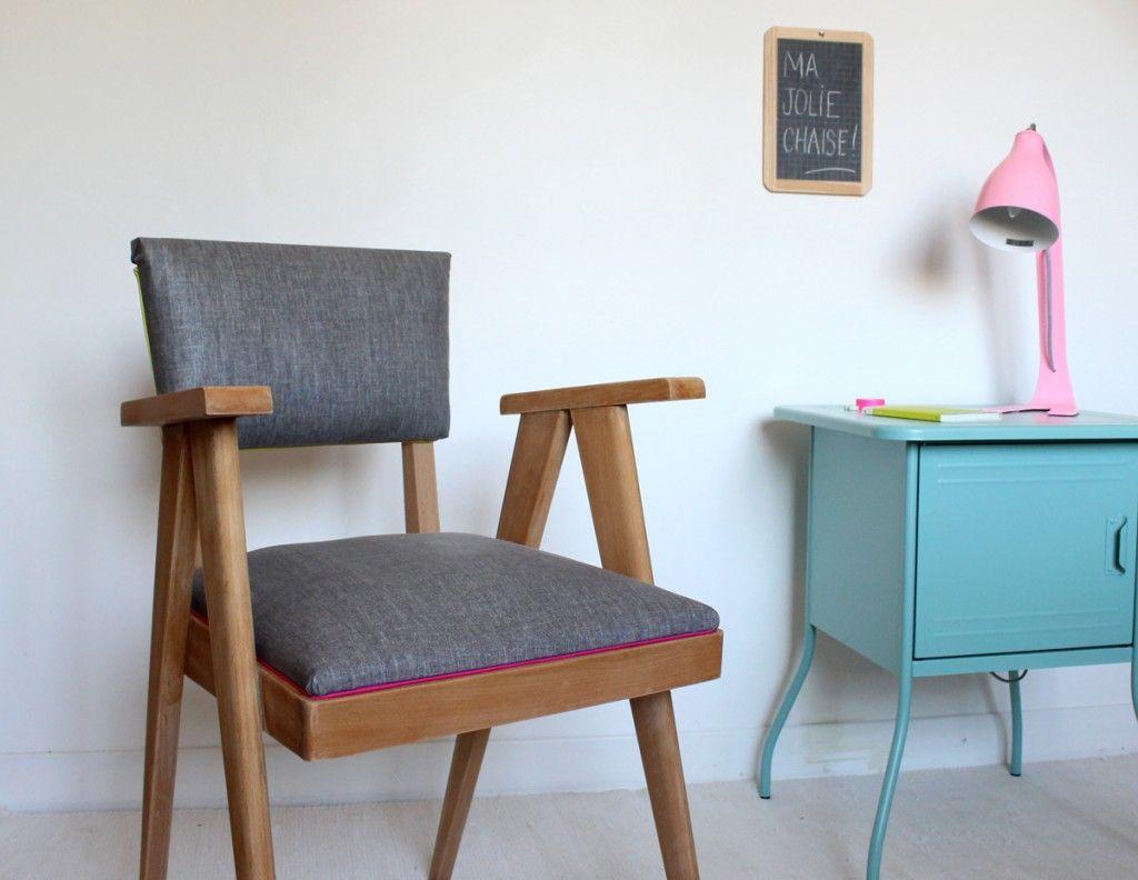 Diy retapisser une chaise projet fauteuils pinterest diy chair - Retapisser une chaise ...