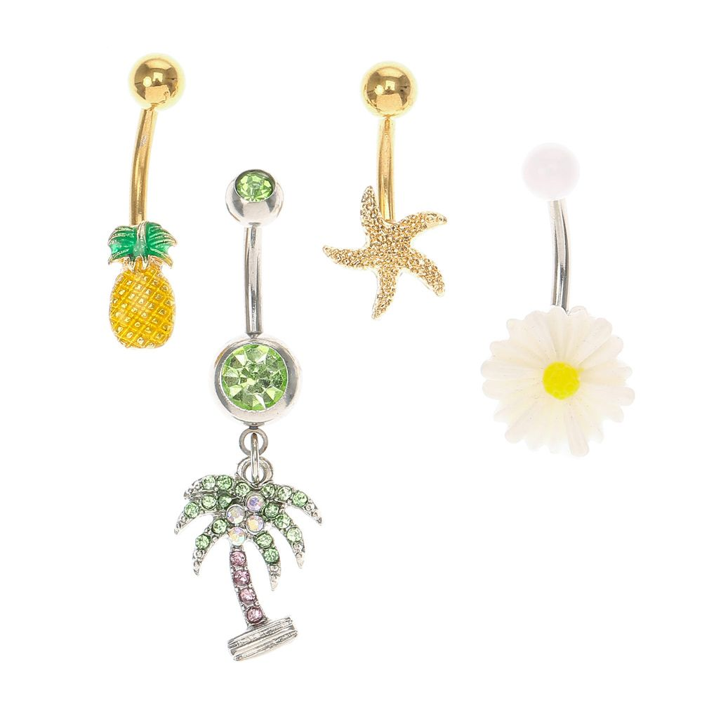 Tropical Belly Button Rings Except The Palm Tree Fashion