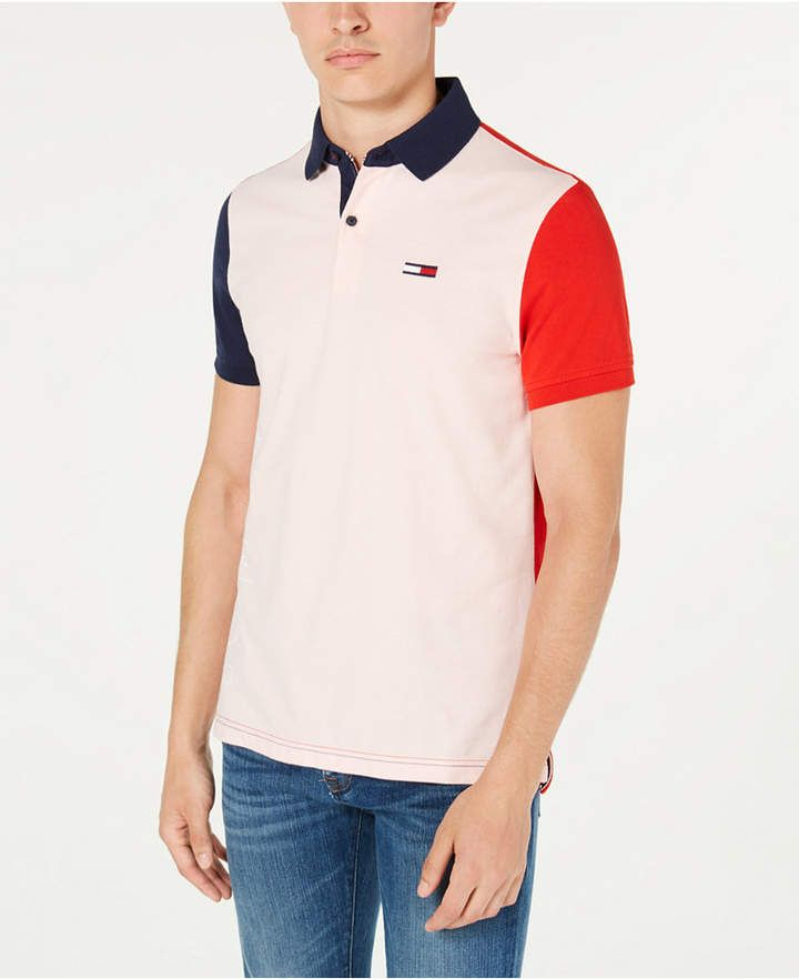 Tommy Hilfiger Men Grant Custom Fit Colorblocked Logo Polo