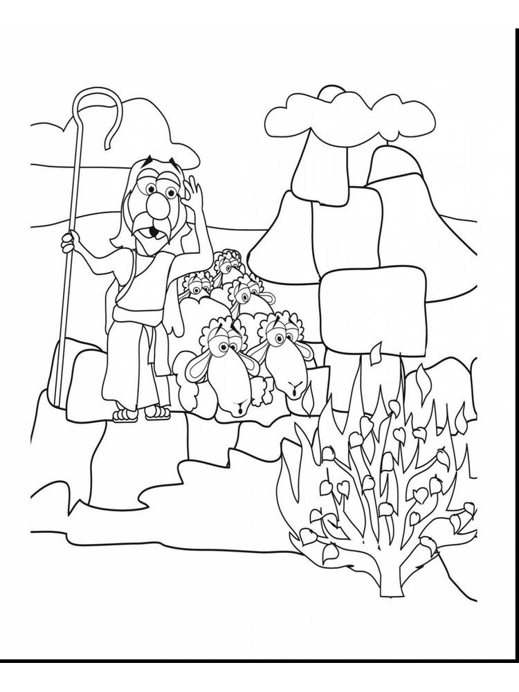 How To Draw Moses And The Burning Bush. Moses had come all ...
