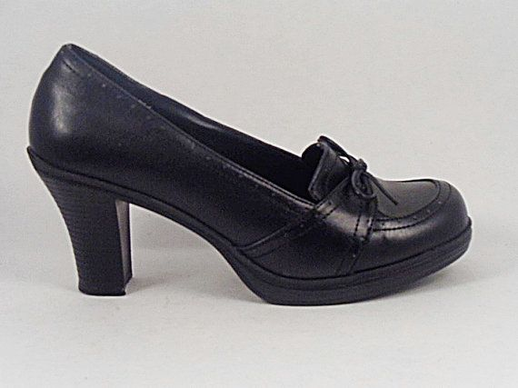 MUDD Steampunk Granny Black Shoes Heels High by pursenbootz 2995