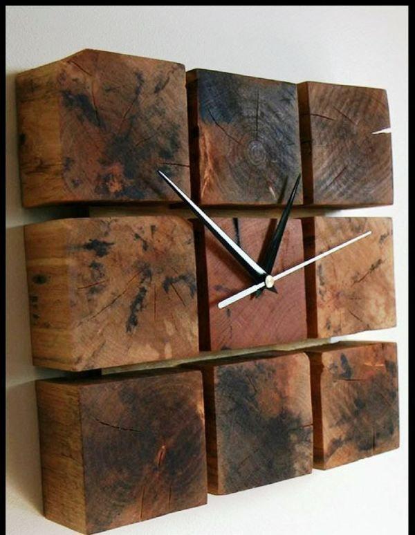17 Ideas de relojes rústicos para decorar tu casa