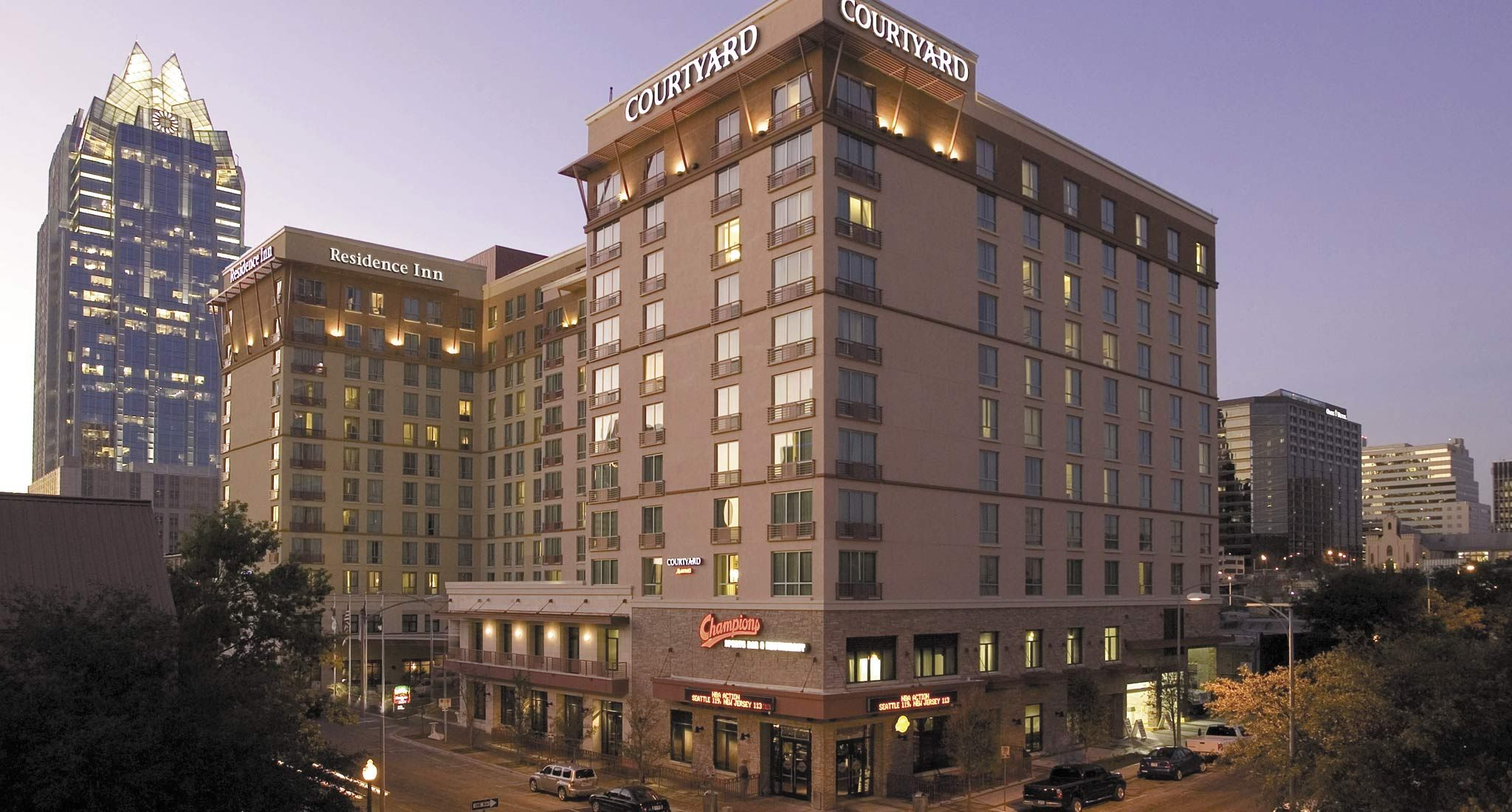 Courtyard Austin Downtown/Convention Center is located near the ...