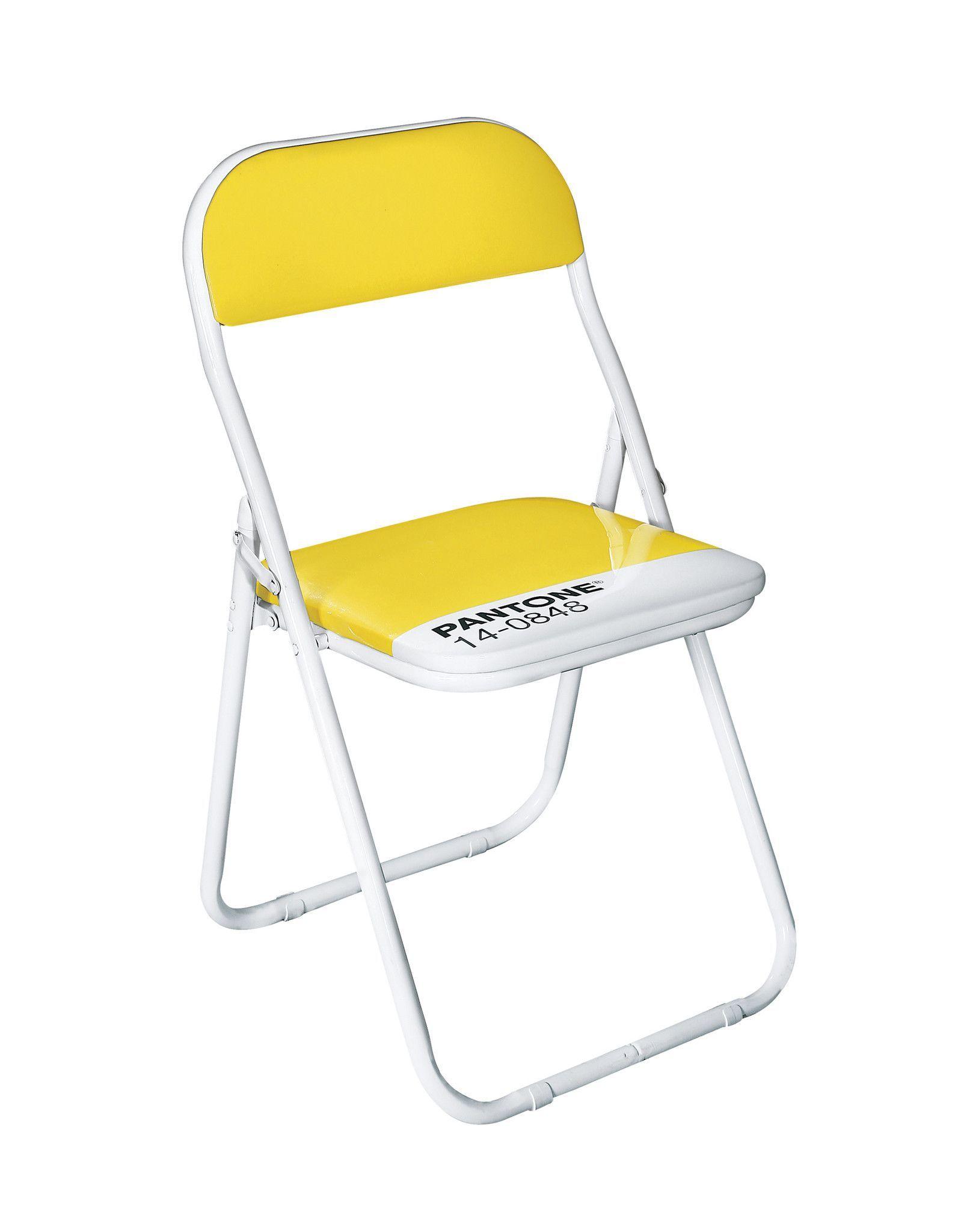 Pantone 14 0848 Mimosa Metal Folding Chair