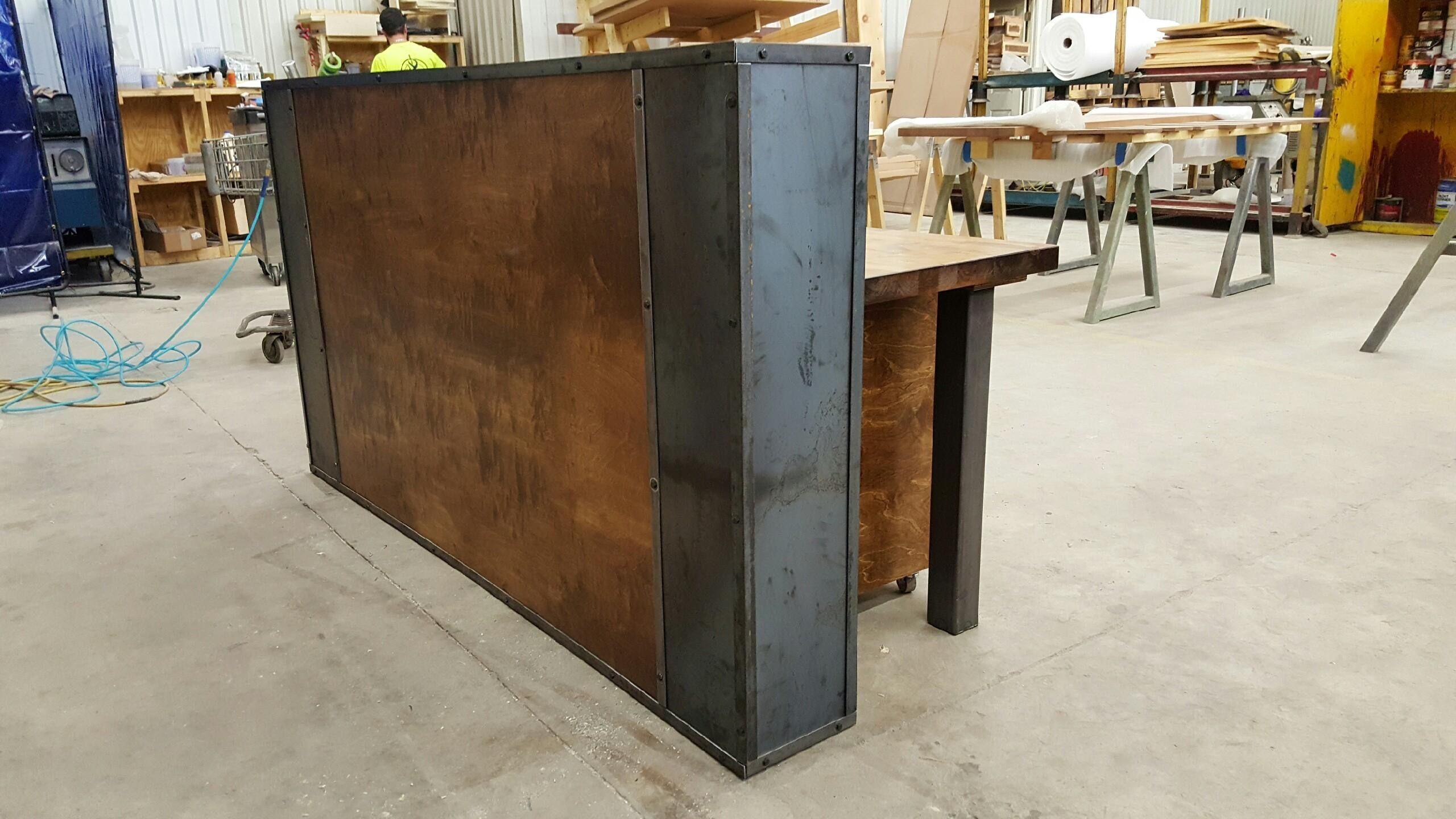 modern wooden office counter desk buy wooden. Farmhouse Modern Reception Desk   Buy A Custom Industrial Desk, Made To Order Wooden Office Counter R