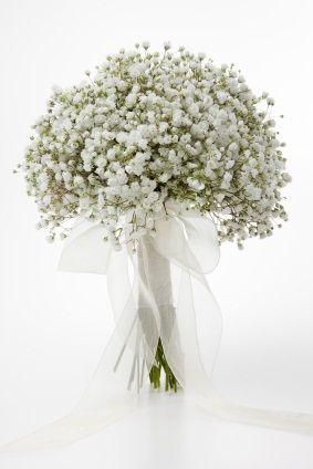 White Bridal Bouquets Wedding Flowers Gypsophila Flower Centerpieces Wedding White Bridal Bouquet