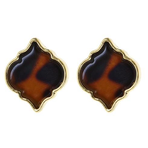 Tortoise Spade Earrings | Fornash