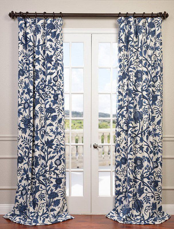 Norway Curtain Panel Blue Curtains Living Room Dining Room Curtains Curtains Living Room