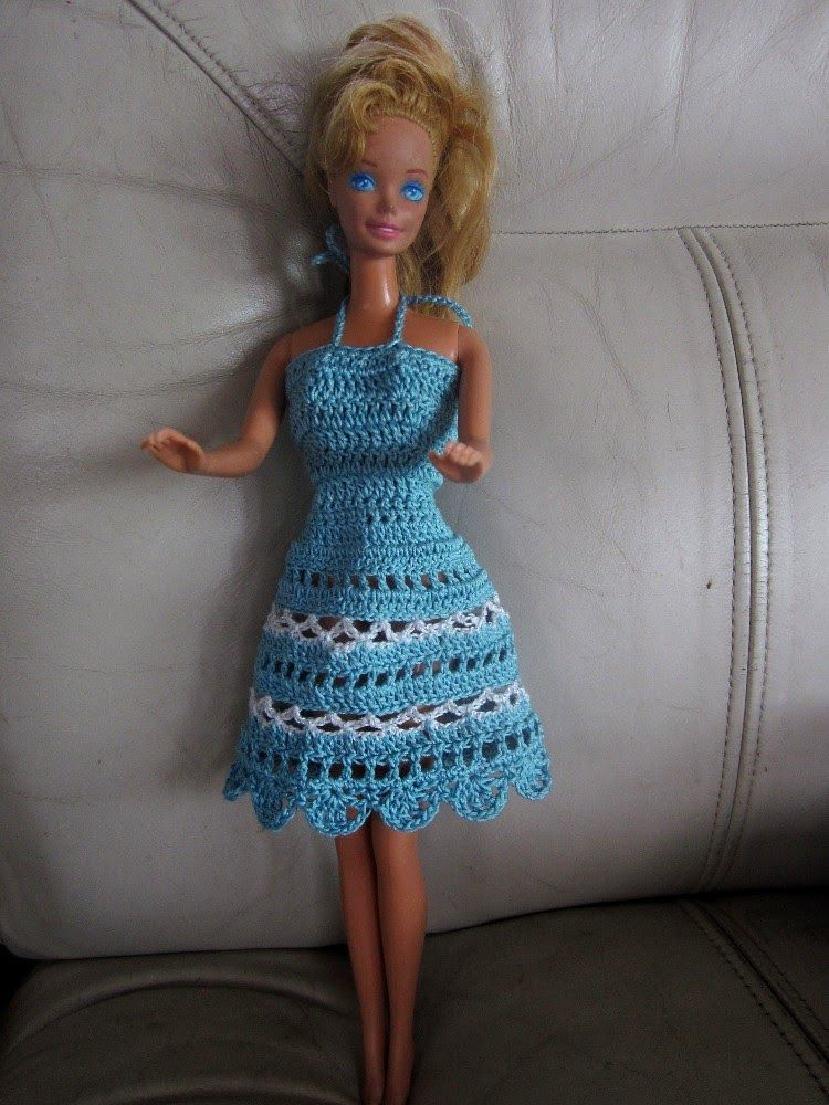 Free Crochet Barbie Dresses | Barbie doll clothes patterns – Unique ...