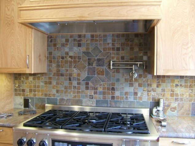 Kitchen Backsplashes Stone Tile Backsplash Options From
