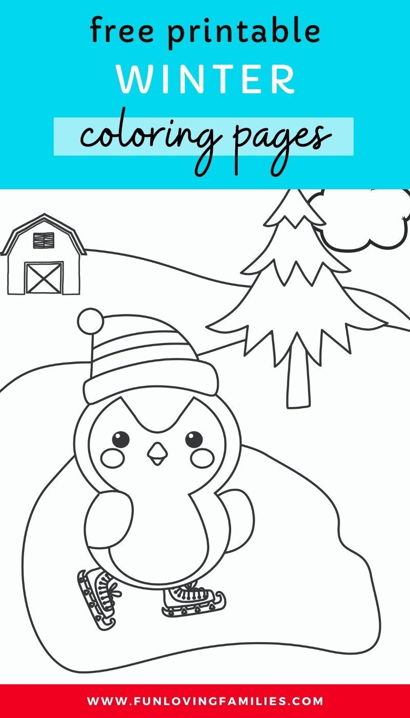 Winter Coloring Pages For Kids Coloring Pages For Kids Coloring Pages Winter Crafts For Kids