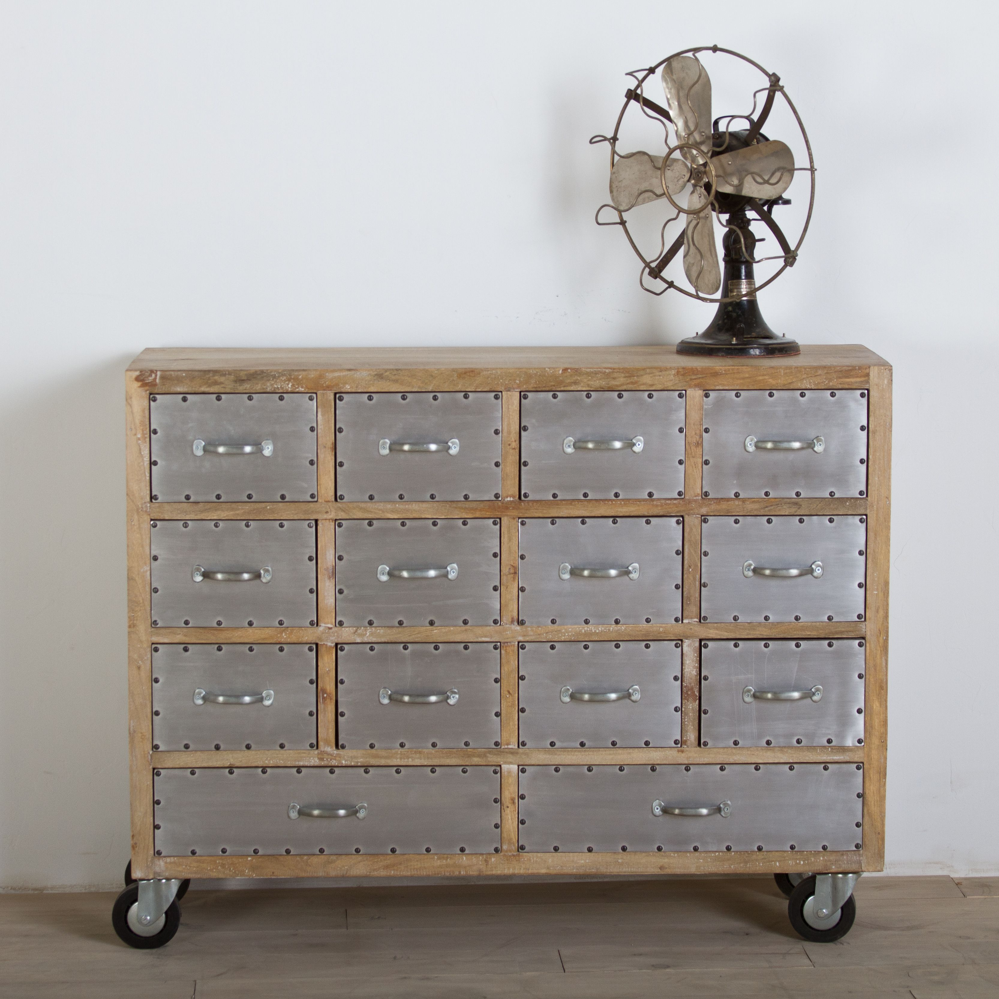Stay organized in style with this reclaimed wood dresser this