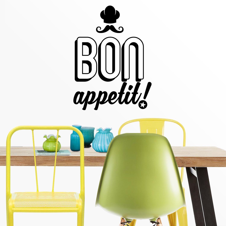 Vinilo decorativo cocina Bon Appetit. Ideas decoración con frases ...