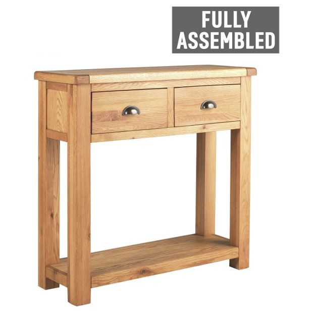 Buy Argos Home Kent Oak Oak Veneer 2 Drawer Console Table Console Tables Pallet Furniture With Lights Furniture Furniture Sofa Set