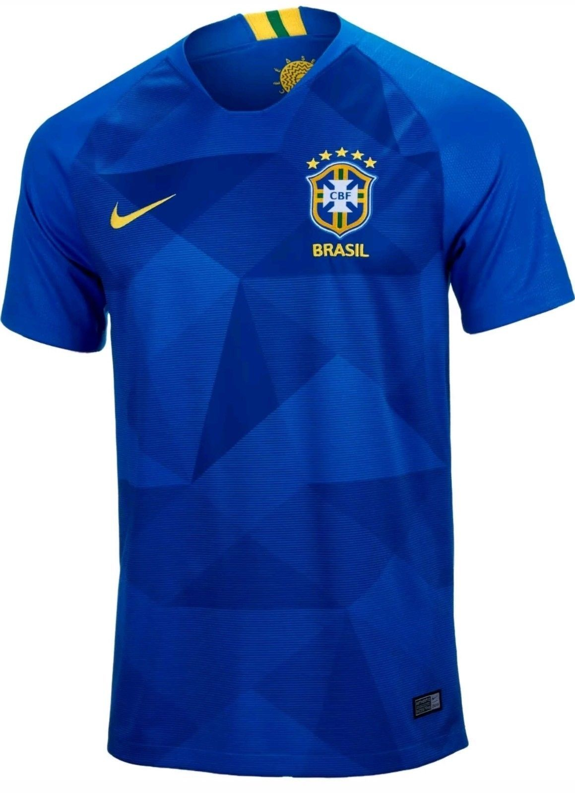 5ef30239c NIKE Breathe 2018 World Cup Brasil Brazil Away Soccer Jersey 893855-453  Size M Discount Price 79.95 Free Shipping Buy it Now
