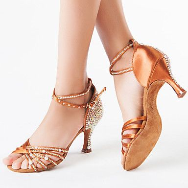Women's Latin Glitter Sandal Heel Performance Rhinestone