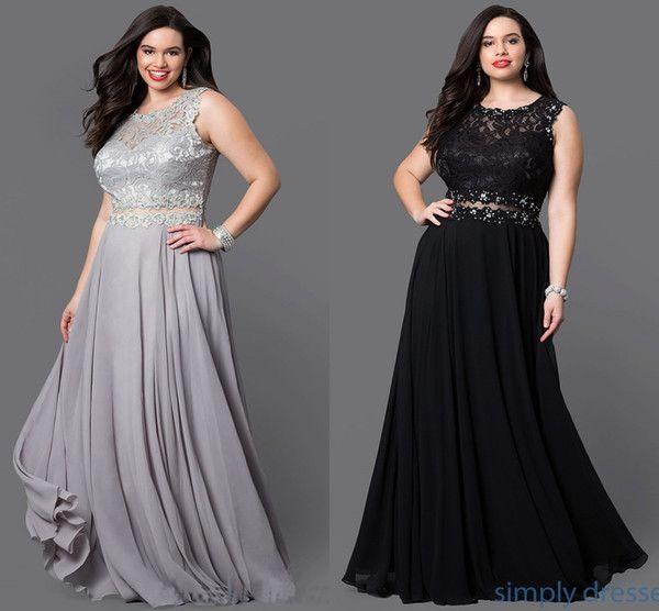 Two Pieces Prom Dress Long Chiffon Dress Cheap Party Gown Elegant