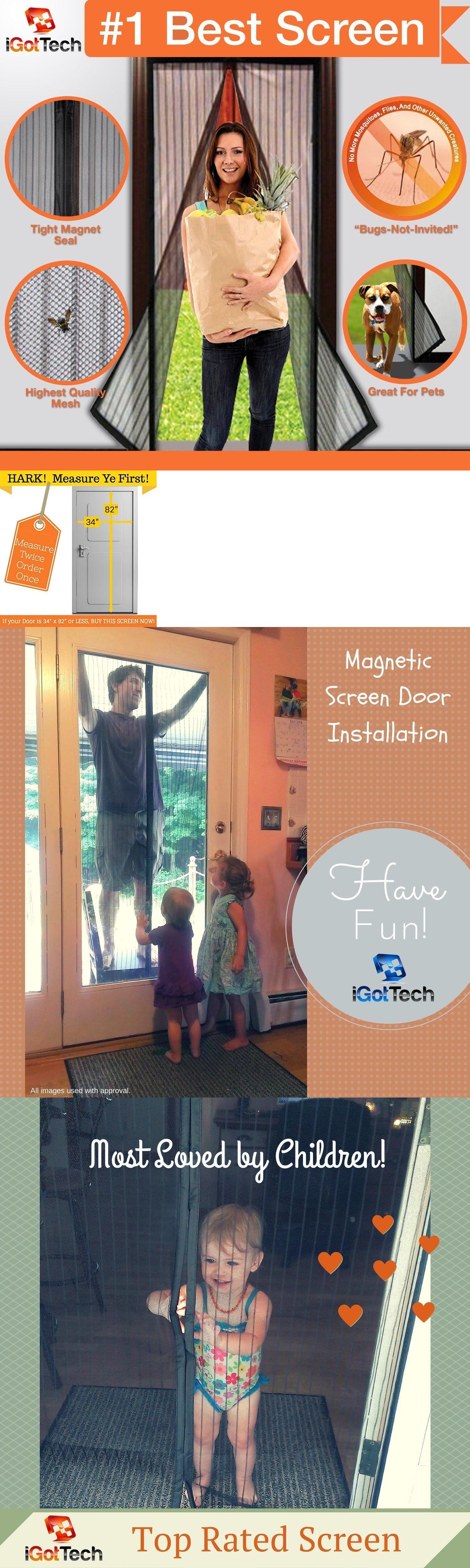 Screen Doors 180968 Magnetic Screen Door Full Frame Velcro 26