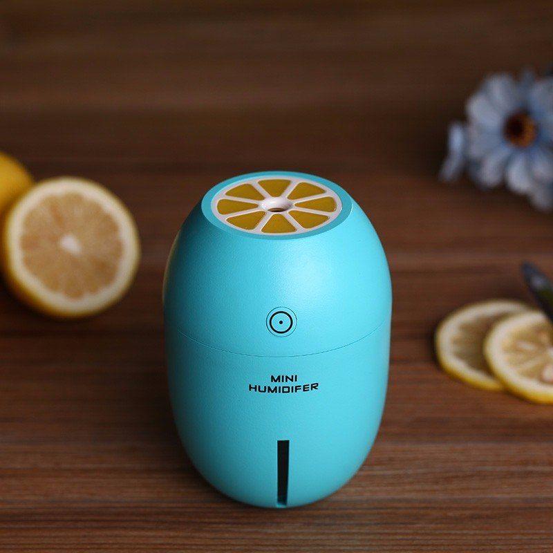 Home Car Ultrasonic Humidifier Usb Lemon Air Purifier Night Light