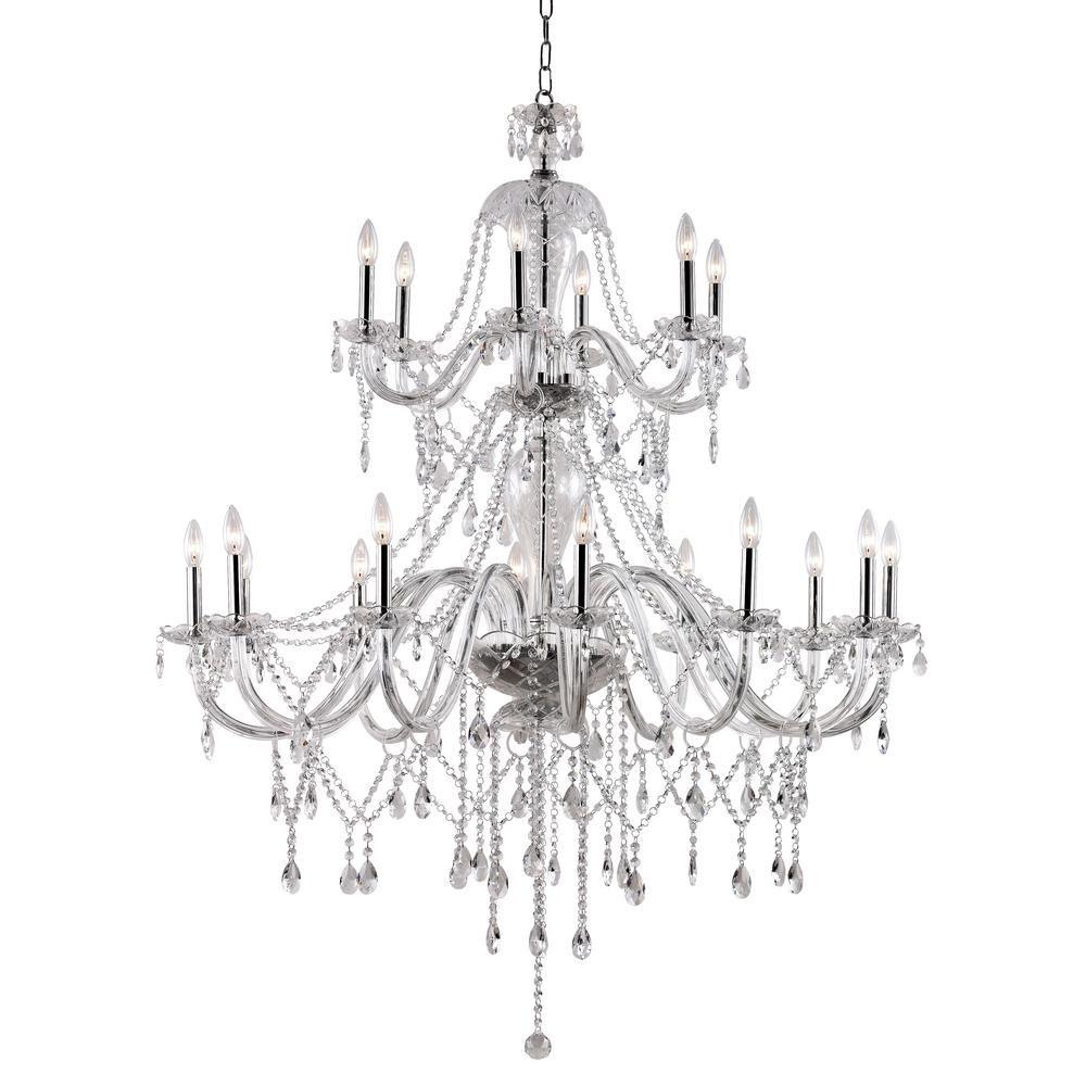 Transglobe 18 light polished chrome chandelier products transglobe 18 light polished chrome chandelier arubaitofo Images