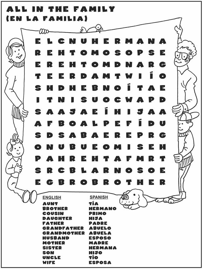 Populares English-Spanish Word Search/Sopa de Letras #1 | homeschool  NO99