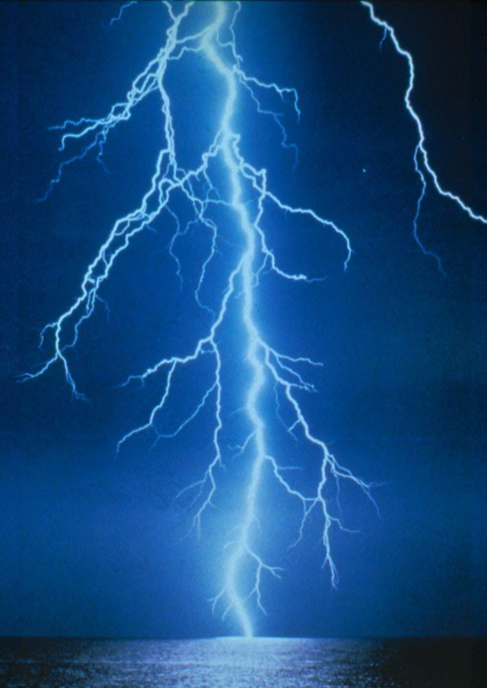 Solar Lightning And Lightning Protection Blue Lightning Lightning Lightning Strikes