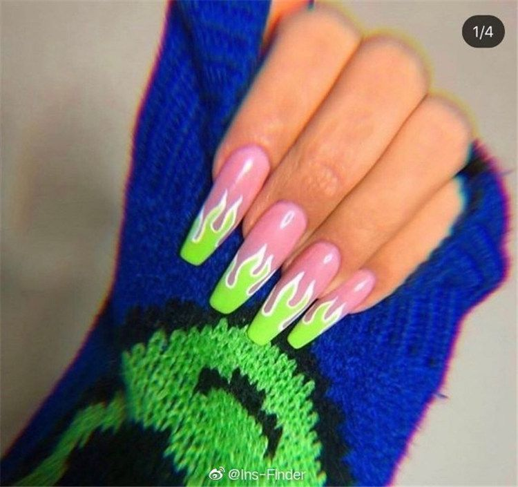 150 Simple And Cute Natural Acrylic Coffin Nails Design Page 5 Of 150 Inspiration Diary Nails In 2020 Fire Nails Coffin Nails Designs Cute Acrylic Nails