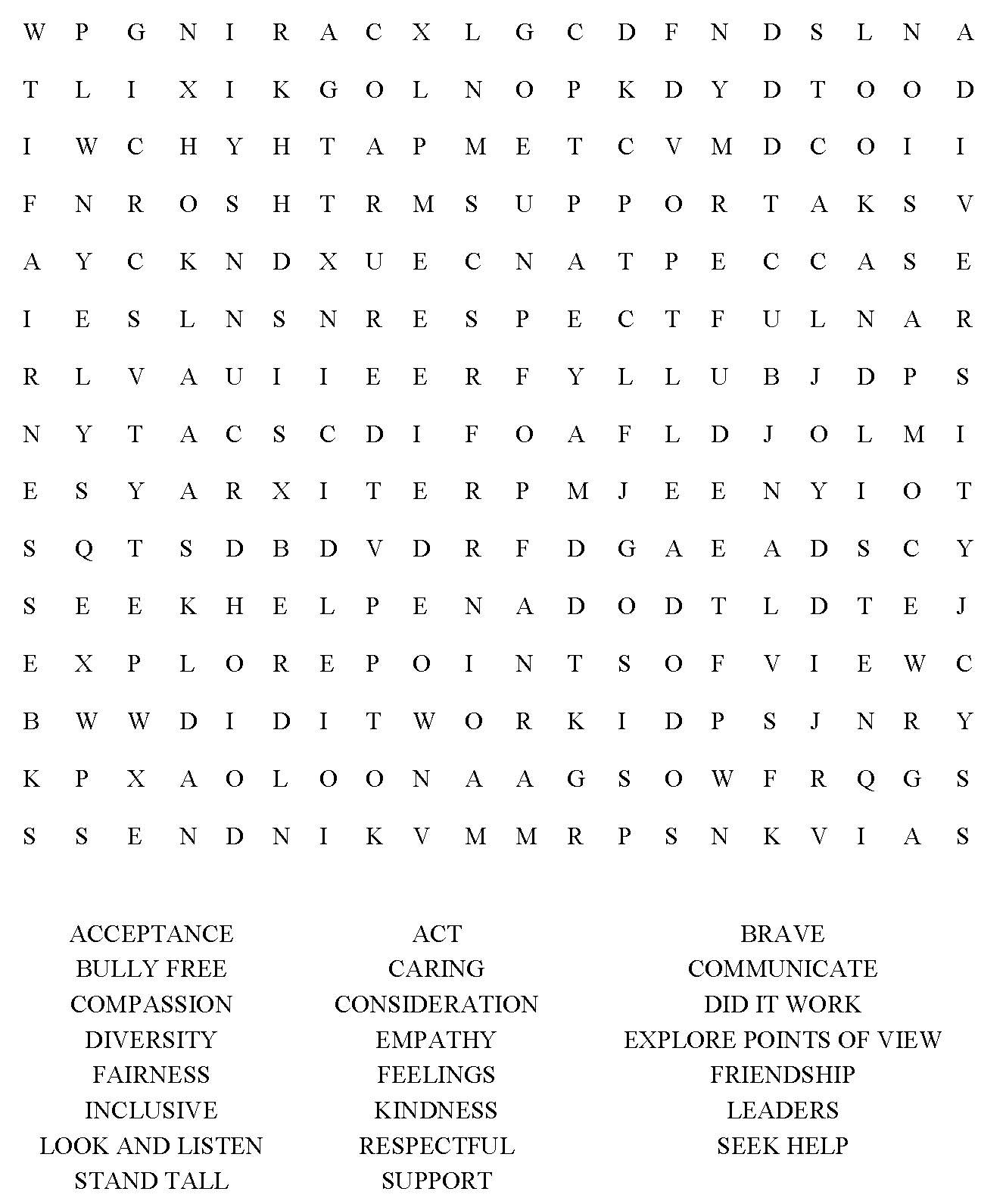 Photocopy And Distribute This Word Search To Older
