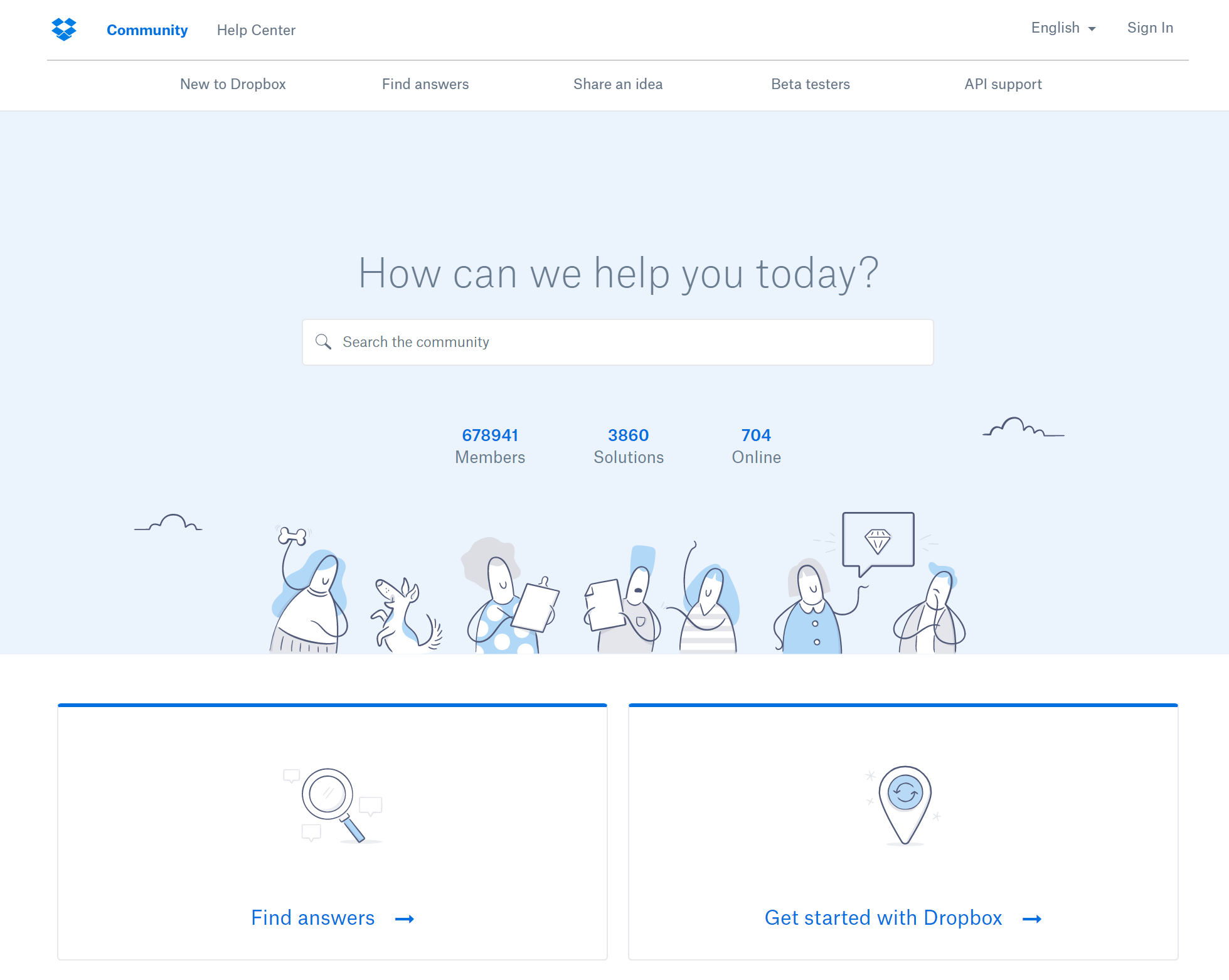 Dropbox illustration style and icons create a great nice