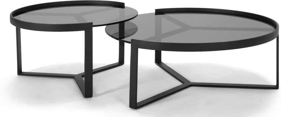 Aula Nesting Coffee Table Black And Grey Table Coffe Table