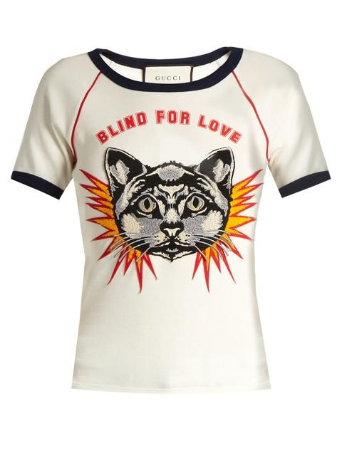 47bc7393 Gucci Blind for Love-print cotton-jersey T-shirt | Tops | Gucci tee ...