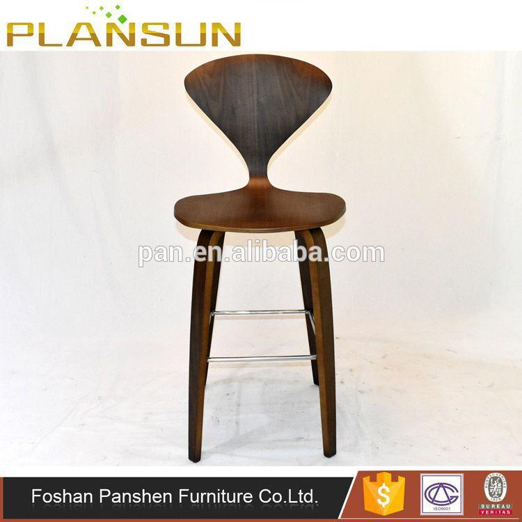 Marvelous Replica Designer Furniture Norman Cherner Bent Wood Bar Stool With  Triangular Backrest