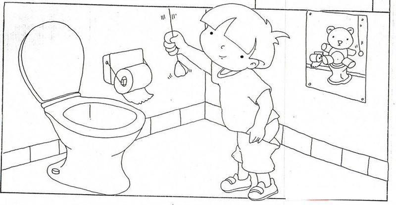 Okul öncesi Tuvalet Eğitimi Boyama Sayfaları Okul öncesi Etkinlik