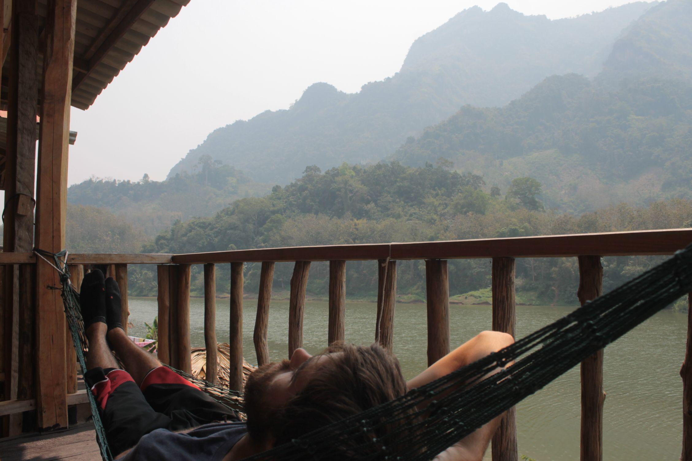 Descansando en Nong Khiaw