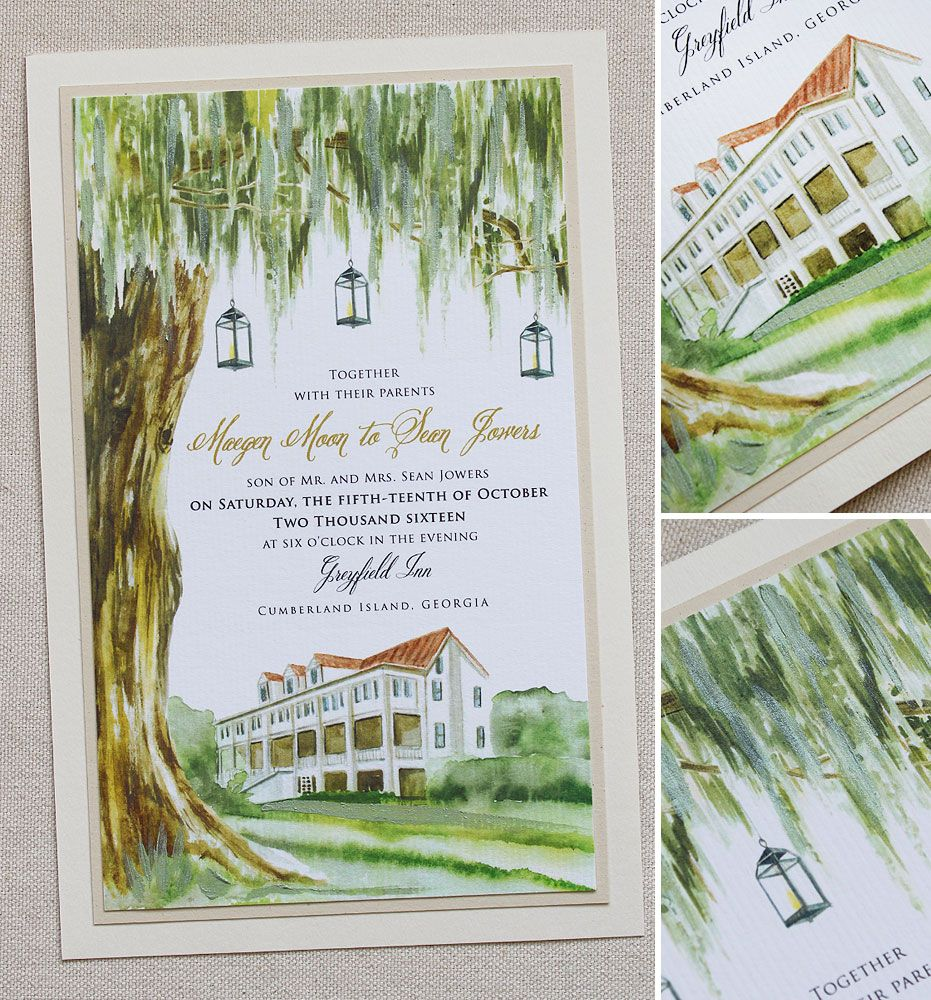 Maegen M Tree Wedding Invitations Oak Tree Wedding Wedding