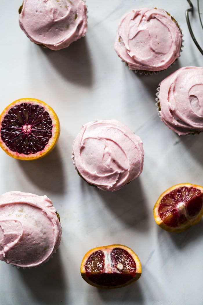 Vegan Coconut Cupcakes With Blood Orange Buttercream