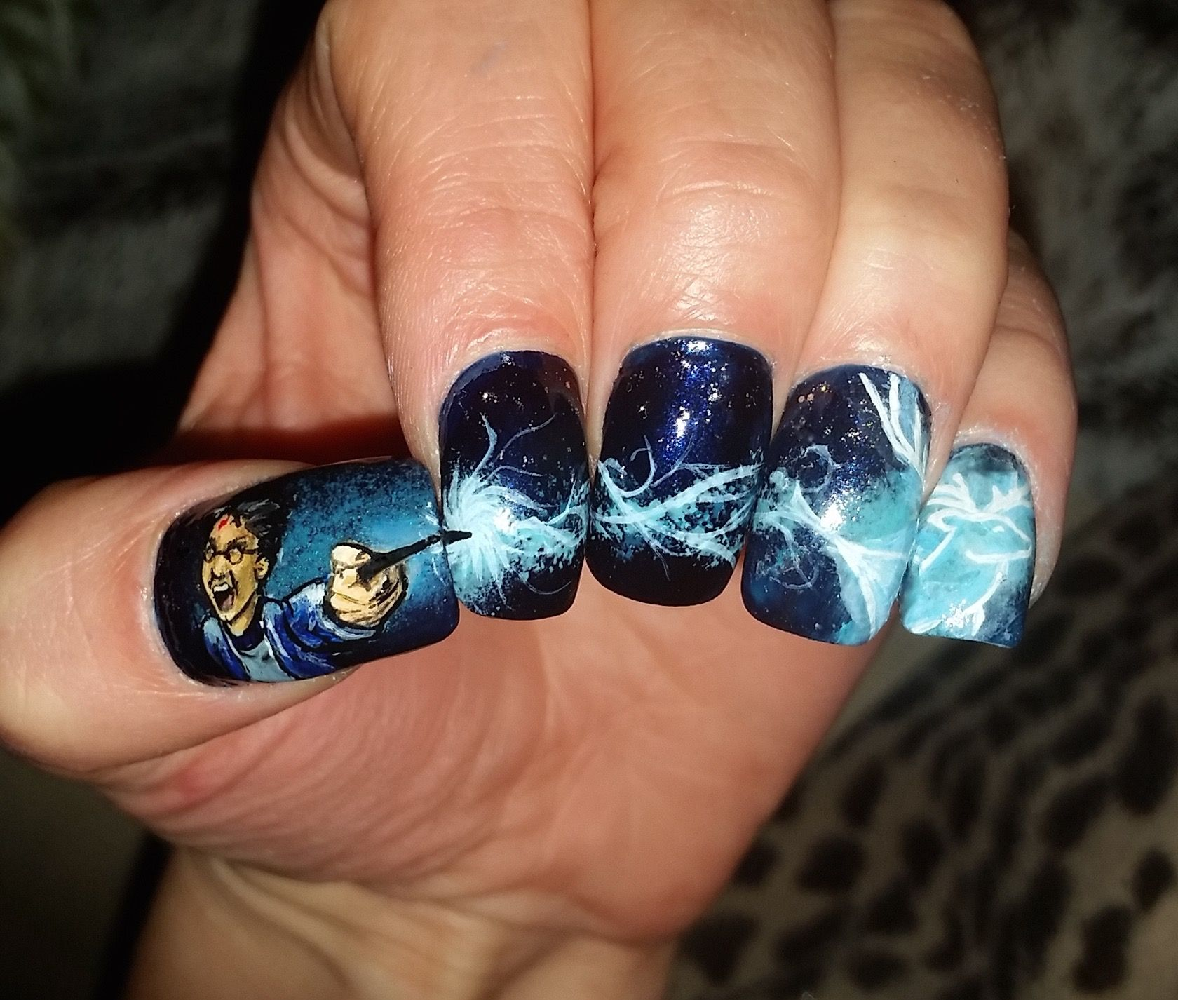 Harry potter expecto patronum nail art video on youtube channel harry potter expecto patronum nail art video on youtube channel sammylovesfossas prinsesfo Images