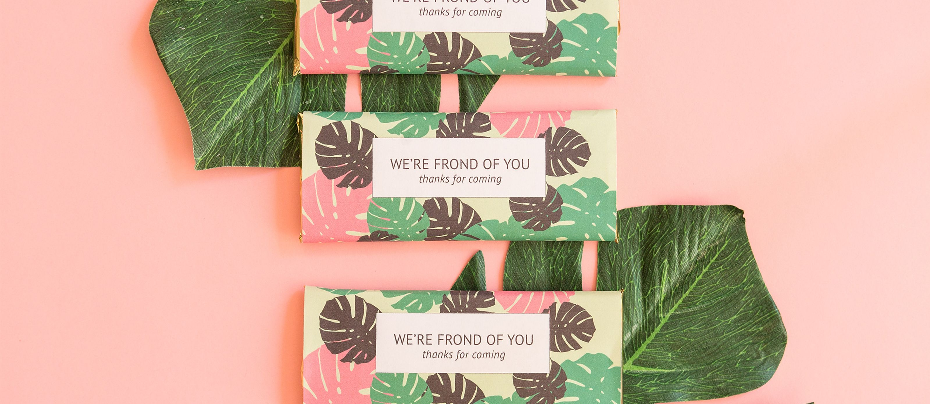DIY Chocolate Bar Tropical Favors   Tropical   Pinterest   Favors ...