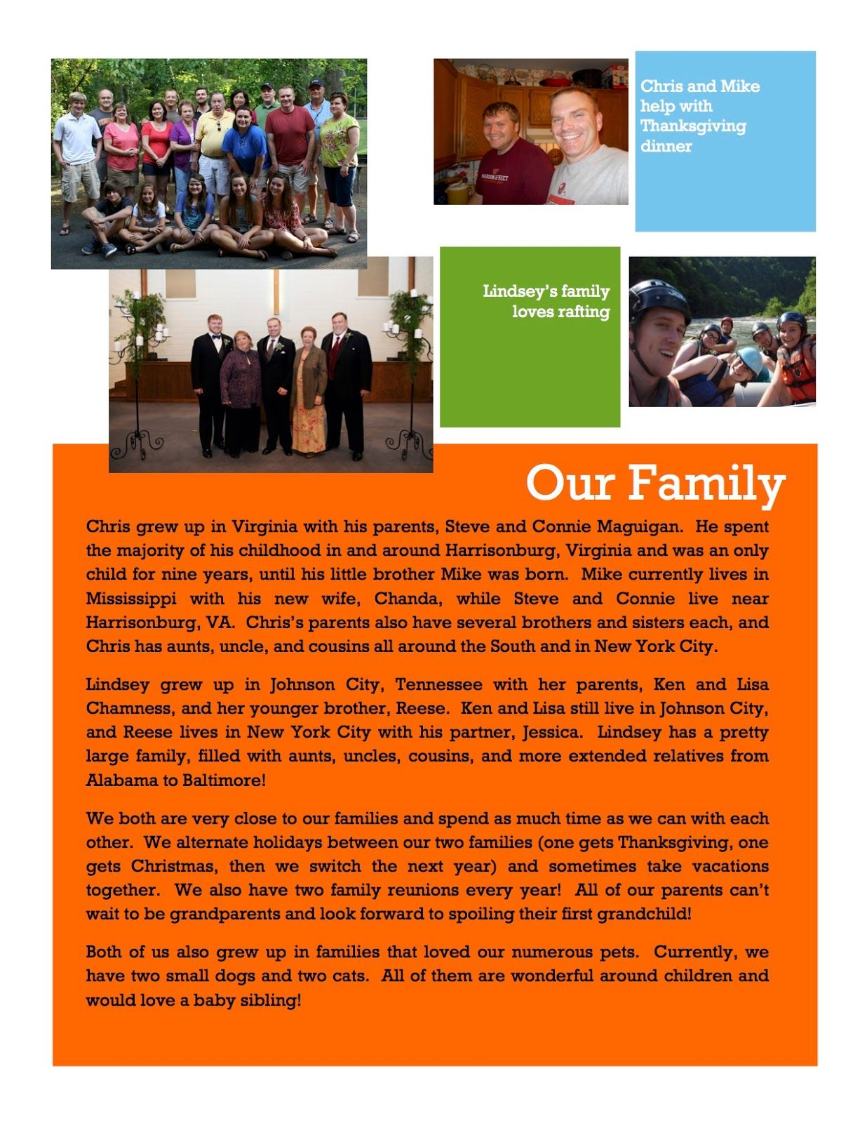 The Maguigans Are Looking for a New Addition! | Our adoption book p.3 -- Please help us spread the word!! #adoption #adoptivefamily #ourfamily