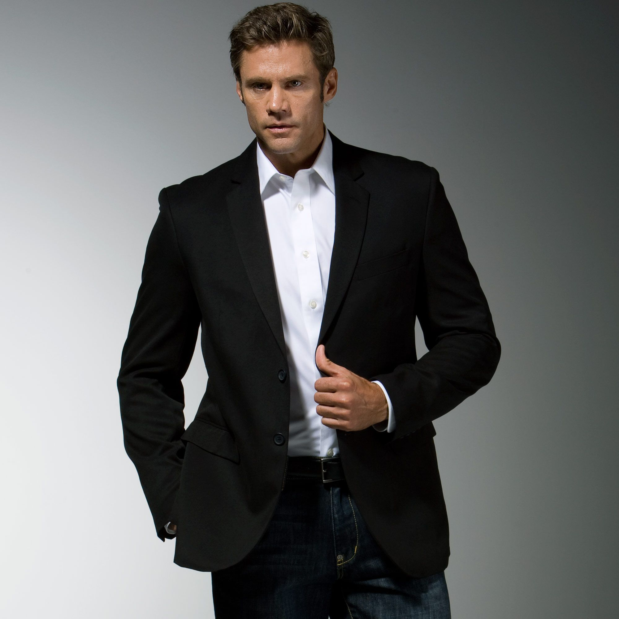 black blazer with jeans Google Search Mens outfits