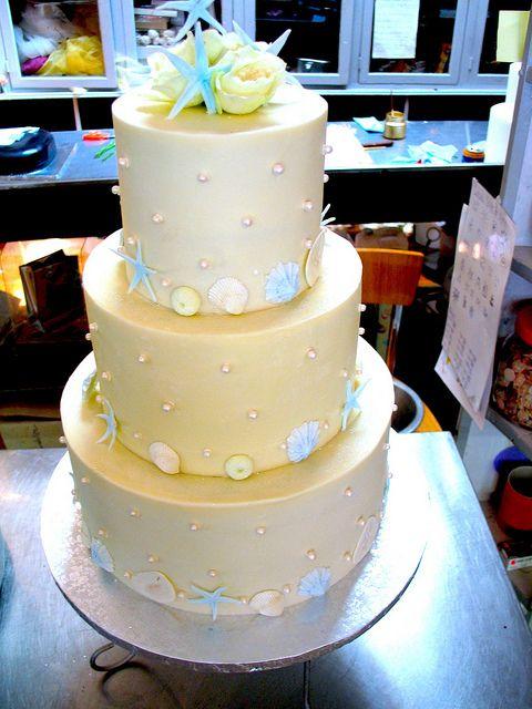 3-tier Wicked Chocolate wedding cake iced in white chocolate ganache ...