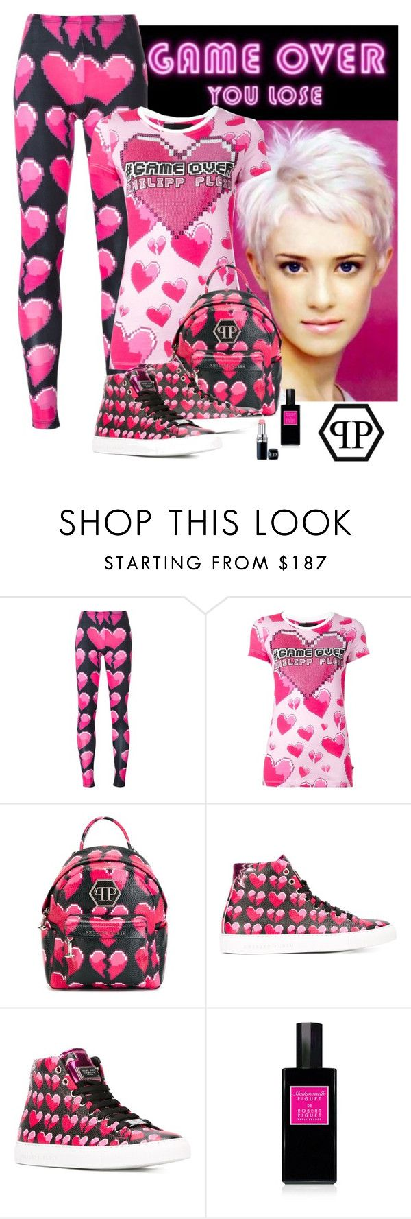 """""""Philipp Plein - Game Over"""" by katiethomas-2 ❤ liked on Polyvore featuring Philipp Plein and Robert Piguet"""