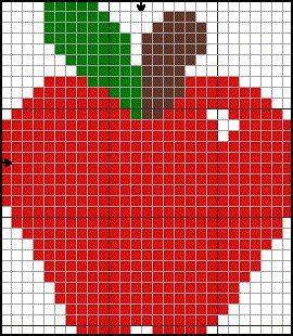 Apple Hama Perler Beads Pattern Crochet Point De Croix Et