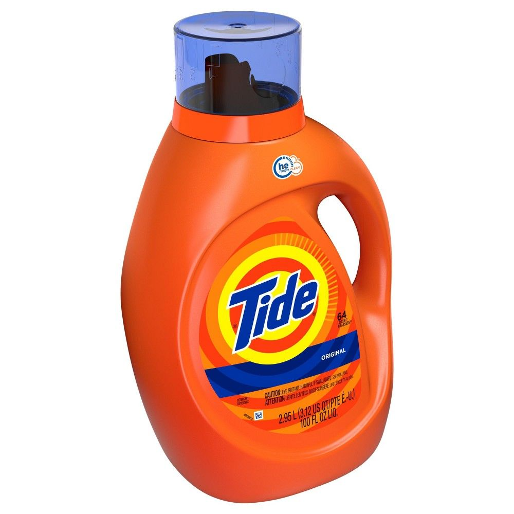 Tide Original High Efficiency Liquid Laundry Detergent 100 Oz