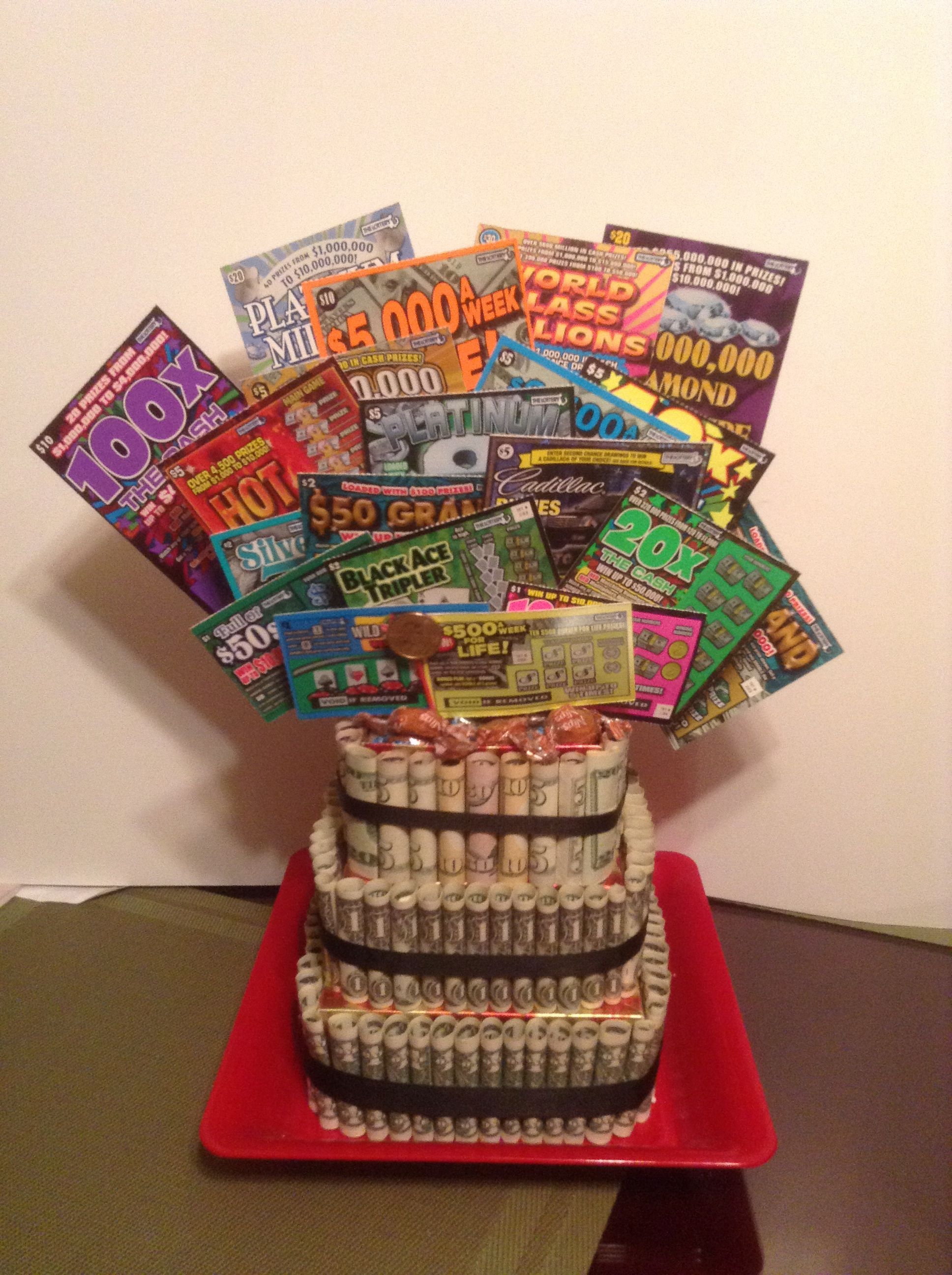 Money Cake With Scratch Tickets Stuff I Ve Made Money