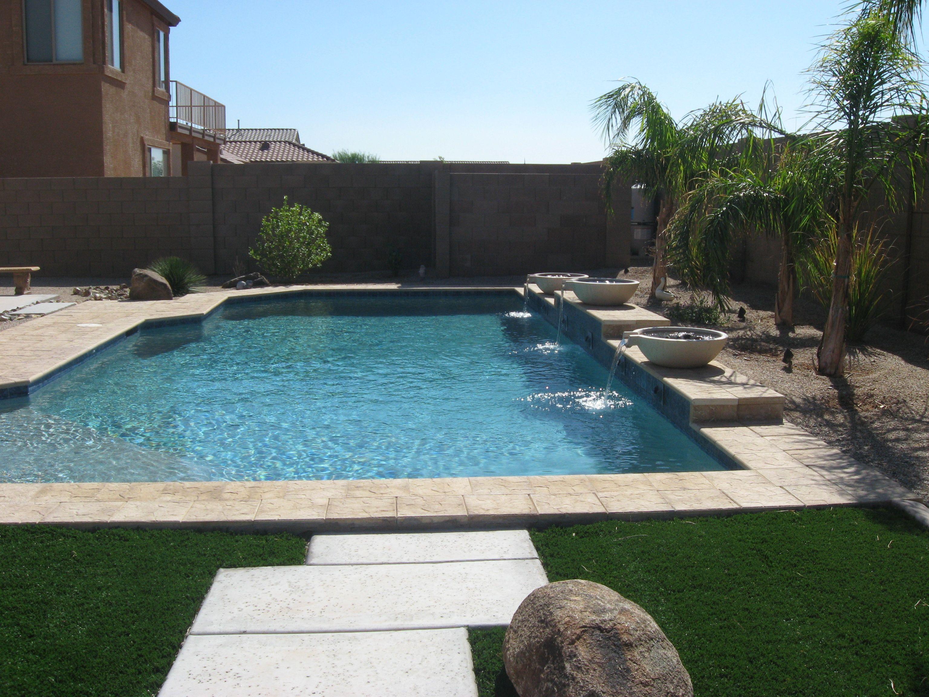 Typical Pool In Phx Az Pool Houses Backyard Pool Pool Patio