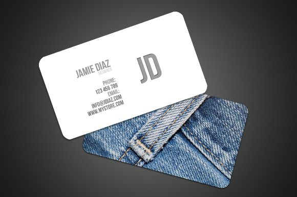 Jeans Style Card Business Card Template Design Business Cards Creative Templates Minimalist Business Cards